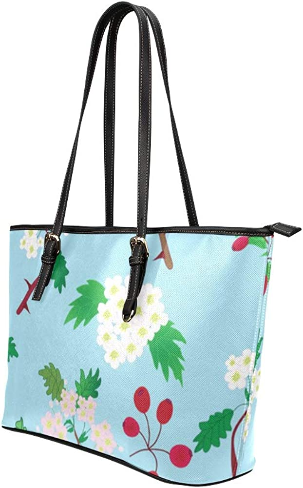 A Bag For Women Retro Rustic Fashion Fruit Hawthorn Leather Hand Totes Bag Causal Handbags Zipped Shoulder Organizer For Lady Girls Womens Ladies Tote Bag