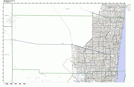 Amazon.com: Broward County, Florida FL ZIP Code Map Not ...