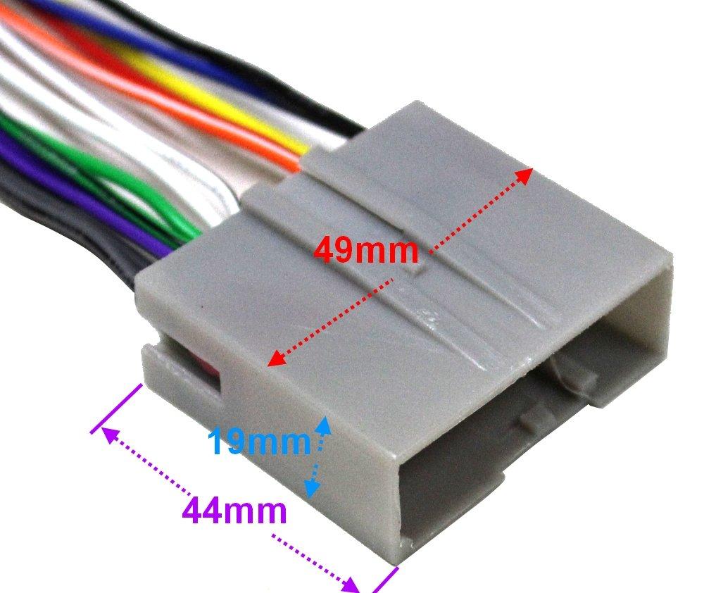Aerzetix-ak4/convertitore cavo adattatore ISO per radio con connessione jack ISO cable Ford Fiesta Fusion F150/F250/F350/F450/F550/Mustang Compliant