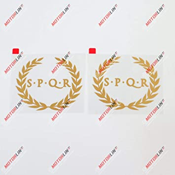 3S MOTORLINE 2X Gold 6 SPQR Ancient Rome Banner Decal Sticker Car Vinyl Roman no bkgrd