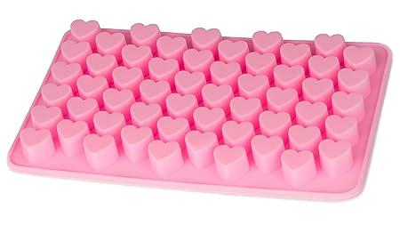 Blue Fox Silikonform Herzchen Praline Silikon Herz Eiswürfel Schokolade Form Süßigkeiten Dekoration Förmchen Bonbon Schoko Ve