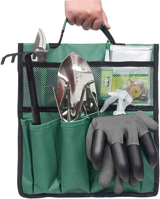 Bolsa de herramientas de jardín Kit de herramientas de plantas de jardín, bolsa de mano de jardinería Bolsa de herramientas de jardín Organizador de jardín Kit de herramientas de jardinería Soporte: Amazon.es: