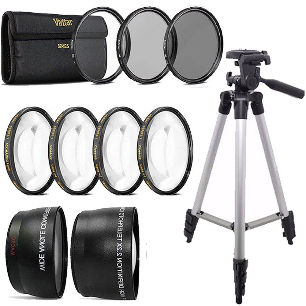 52 mm gran angular ojo de pez y telefoto lente Top Kit de ...