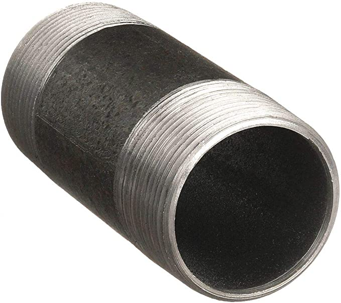 """1/"""" x 4/"""" Left /& Right Handed Galvanized Pipe Nipple One Side Reverse Thread"""