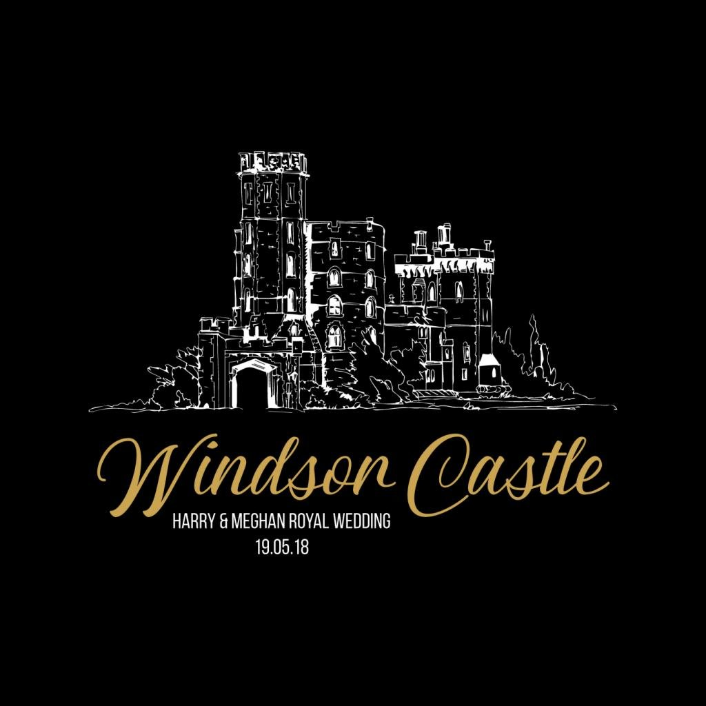 Windsor Castle Harry and Meghan Royal Wedding Kid's T-Shirt by Coto7 (Image #2)