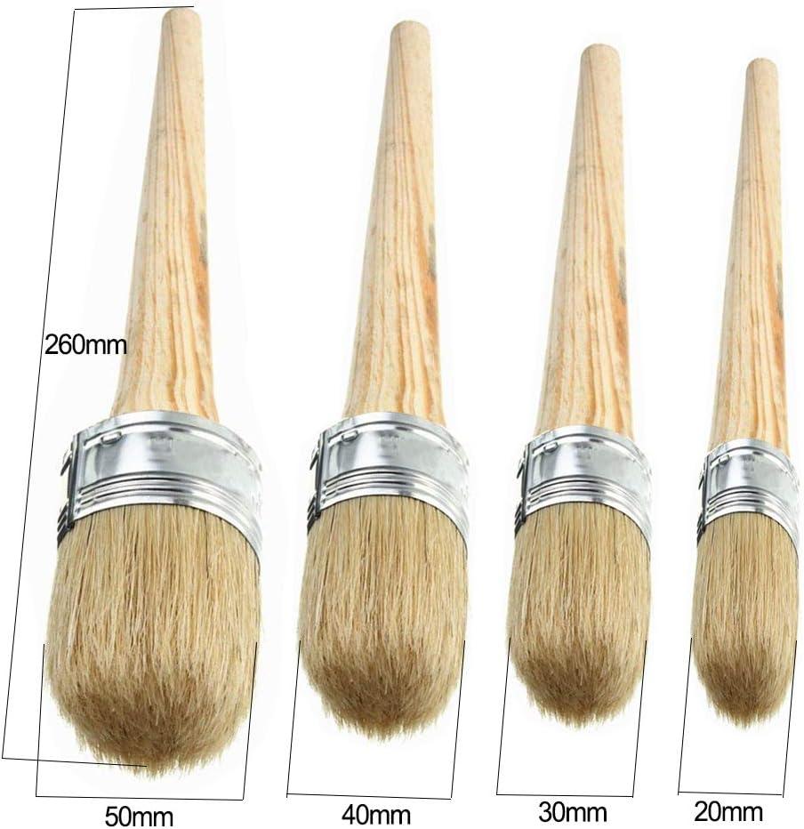 Juego de 9 brochas de cera para pintura de tiza