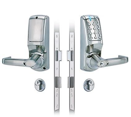 Codelocks 5020 Bs - Cerradura digital electrónica con manija de palanca (cilindro doble, función