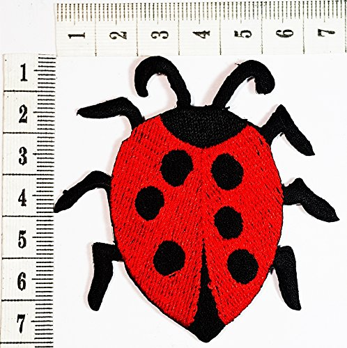 Lady Bug Animal patch hippie retro love peace patch Cartoon Children Kids Embroidered Iron patch / Sew On Patch Clothes Bag T-Shirt Jeans Biker Badge Applique Ladybug Embroidered Iron