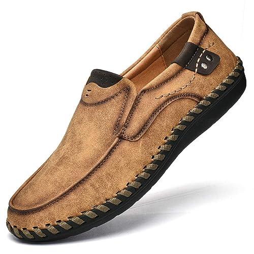 23f9fc8551ac Chaussure de Travail Homme Basse Plate a Enfiler Chaussure de Ville de  Marche au Loisir en