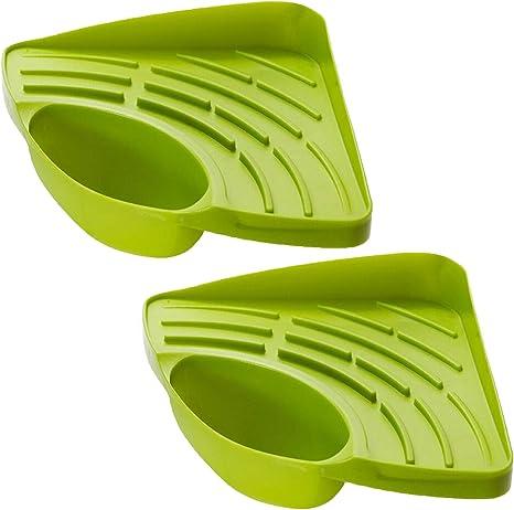 Suntrade 2x Kitchen Sink Corner Storage Rack Sponge Holder Cleaning Brush Holder Bathroom Amazon Ca Home Kitchen