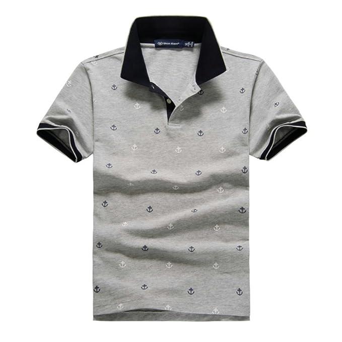 87039a505 Shin Ken Men's Boy's Basic Polo Tshirt Classic Short Sleeve Casual Fashion  Golf T-shirt