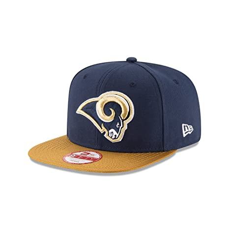 info for 776cc 7d856 Amazon.com   Los Angeles Rams New Era Navy On-Field Sideline 9FIFTY  Snapback Adjustable Hat Cap   Sports   Outdoors