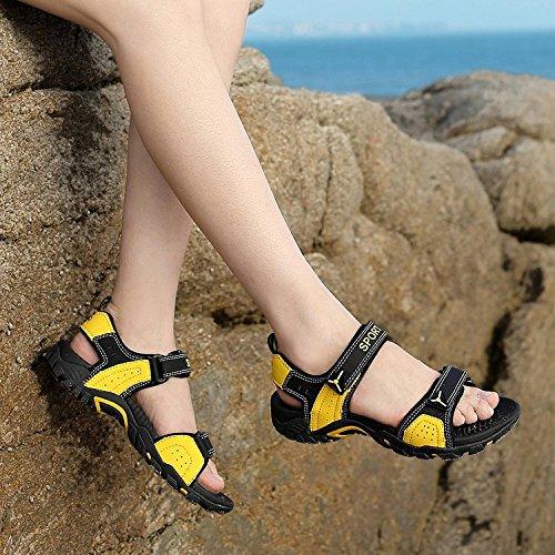 Nove Sandali Da Escursione Sportivi Da Donna Cif Neri E Gialli