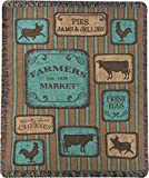 Manual Glasgow Farms Farmers Market Tapestry Throw Blanket With Fringe ATGWFM - 50x60''
