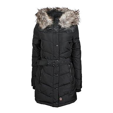 gute Qualität Turnschuhe für billige günstig Khujo Women's Lubeck Coat Schwarz (Black Polyester Bb1) L ...