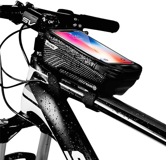 Manillar bici bolsa delantera móvil cartera smartphone soporte soporte de e-bike mtb