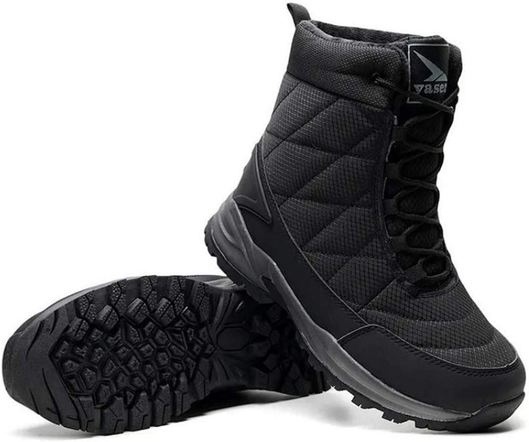 Plush Warm Snow Boots Men Casual Hiking Shoes Winter Ankle Boots For Men Footwear Tactical Boots Black