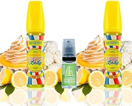 E Liquid Dinner Lady Lemon Tart 50ml (Pack 2 unidades) - 70vg 30pg- booster shortfill + E Liquid The Boat 10 ml lima ...