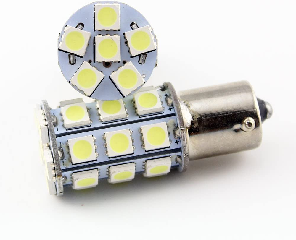 1141 5050 27SMD LED Replacement Bulb Car Turn Signal Lamp DC 12V EverBrightt 10-Pack Warm White 1156 BA15S