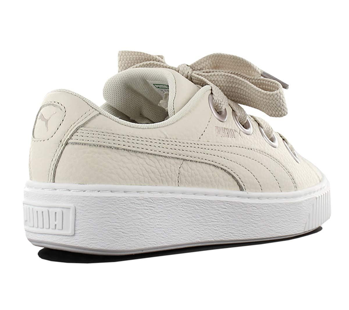 f15874d122e816 Puma Women s Platform Kiss Lea Wn S Birch Leather Sneakers-7.5 UK India (41  EU) (36646002)  Buy Online at Low Prices in India - Amazon.in