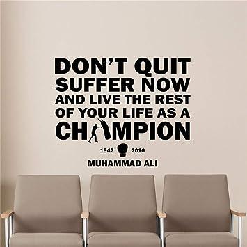 Pegatinas de pared HNXDP Muhammad Ali Cita Tatuajes de pared Boxer ...