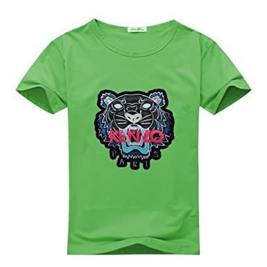 d5da1ef5 Amazon.com: Kenzo Tiger Head Embroidered For 2016 Mens Printed Short Sleeve  tops t shirts: Clothing