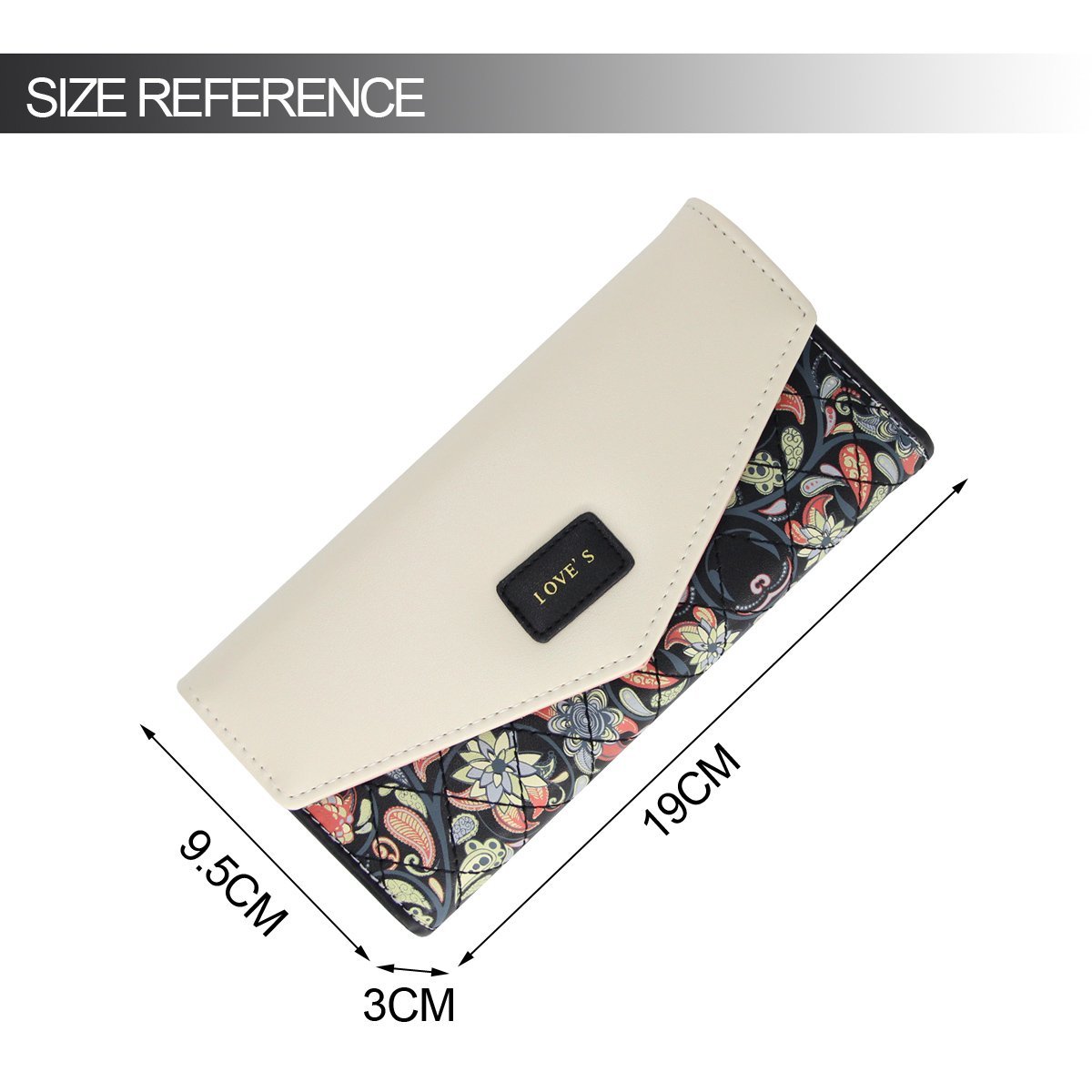 Womens Leather Wallet Purse Handbag Floral Money Clips Credit Card Case Holder by Uopen Endy (Image #2)