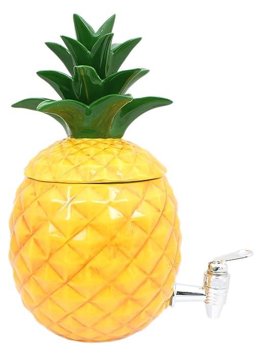 Summer Breeze cerámica Tropical piña de fiesta dispensador de bebidas con grifo