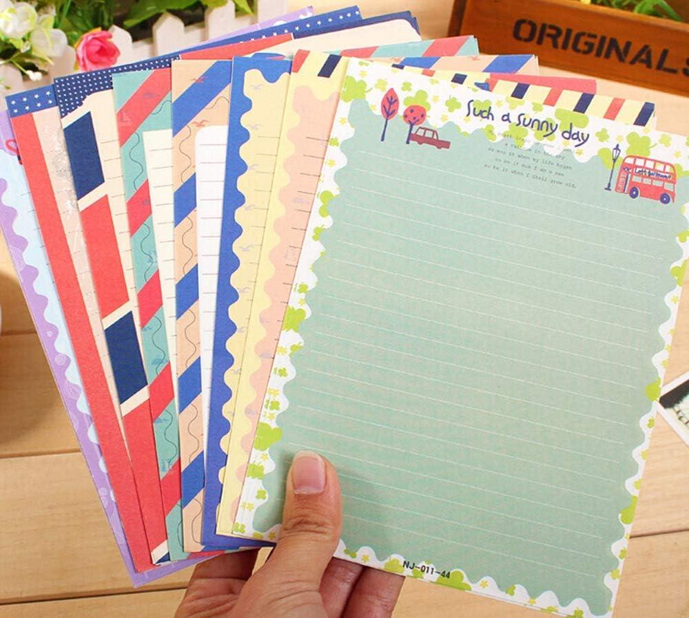 Briefpapier 4 colors 32 Sweet Floral Briefpapier mit 16 Umschl/ägen