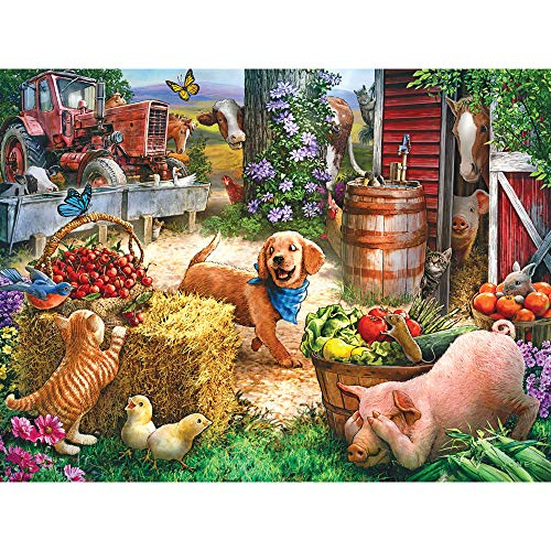 Bits and Pieces - Hide and Seek 500 Piece Jigsaw Puzzles for Adults - Each Puzzle Measures 18 X 24 - 500 pc Jigsaws by Artist Larry Jones