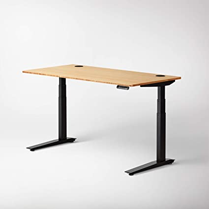 Beau Jarvis Standing Desk Bamboo Top   Electric Adjustable Height Sit Stand Desk    3 Stage