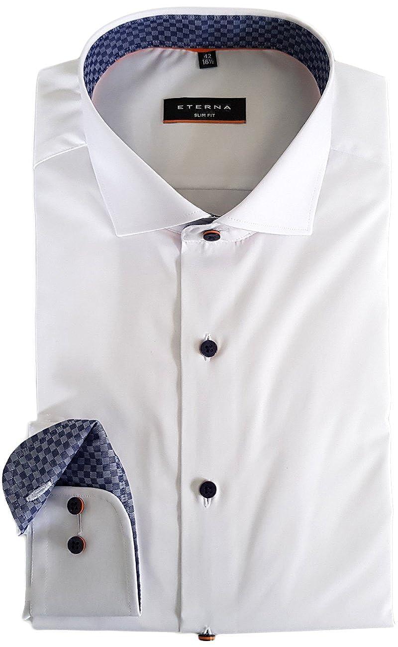 Mengel & Co. Camisa Formal - Liso - Cuello Italiano - Manga Larga - para Hombre