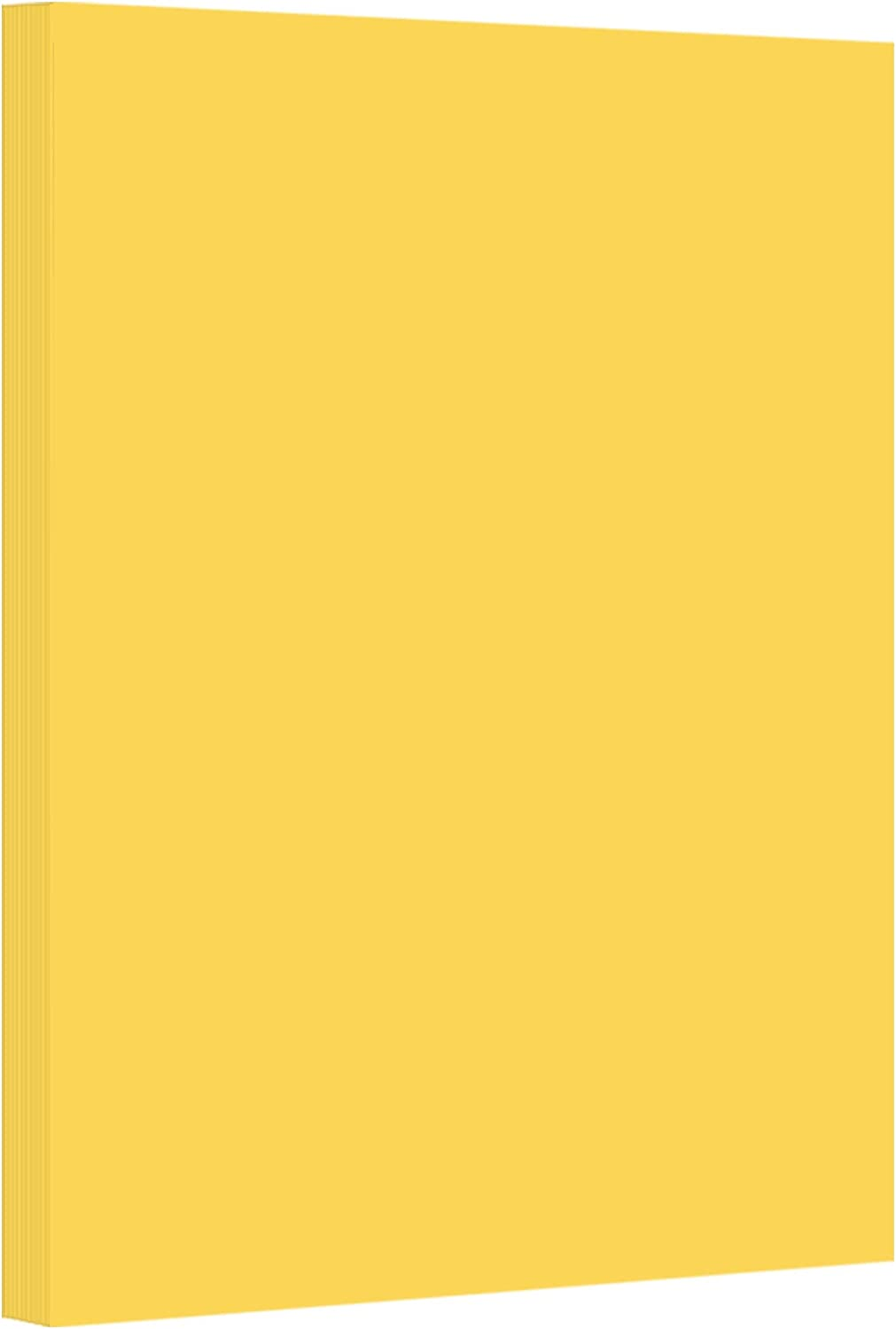 Goldenrod Pastel Color Card Stock Paper, 67lb Cover Medium Weight Cardstock, for Arts & Crafts, Coloring, Announcements, Stationary Printing at School, Office, Home   8.5 x 11   50 Sheets Per Pack