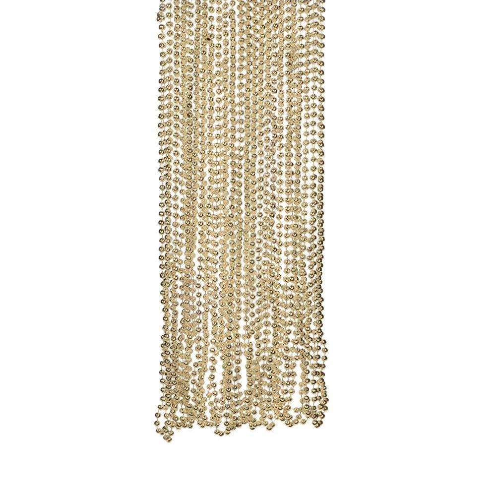 Fun Express Light Gold Plastic Metallic Bead Necklaces (4 Dozen) by Fun Express