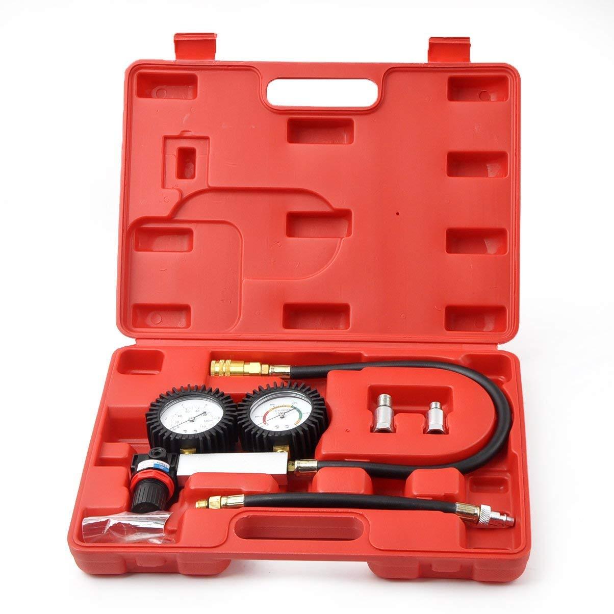 Yoico Cylinder Leakage Tester Kit Automotive Tool Gauge, Detector Engine Leak Down Leakage Tester Kit