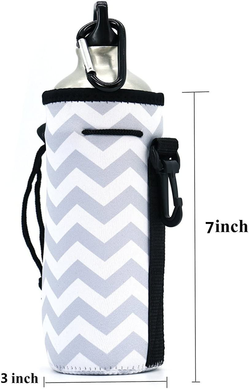 Water Bottle Carrier Insulated Cordura with Bottle /& Scissor Snap IMP USA  NEW