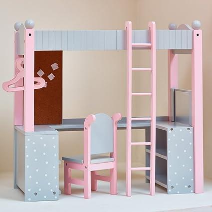 Amazon Com Teamson Polka Dots Princess Doll College Dorm Double