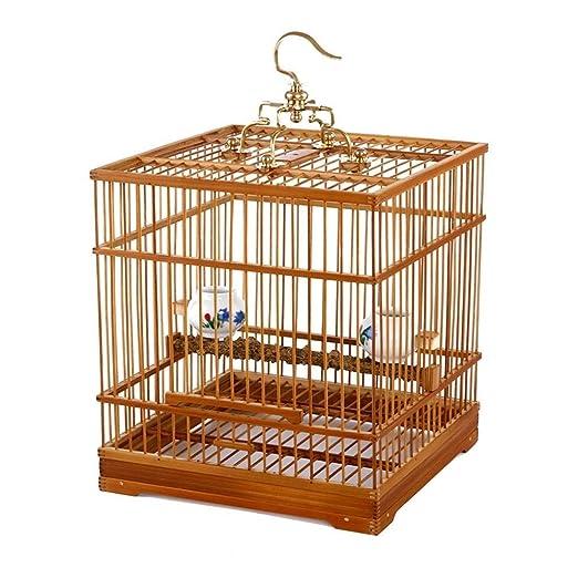 HIZLJJ Pájaros Pájaros Jaula de baño de bambú Zorzales Estorninos ...