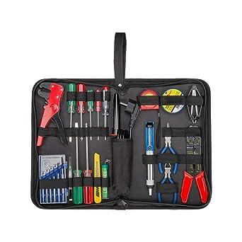 Fixpoint 45243 - Bolsa de herramientas con soldador Juego de herramientas en práctica bolsa, 20