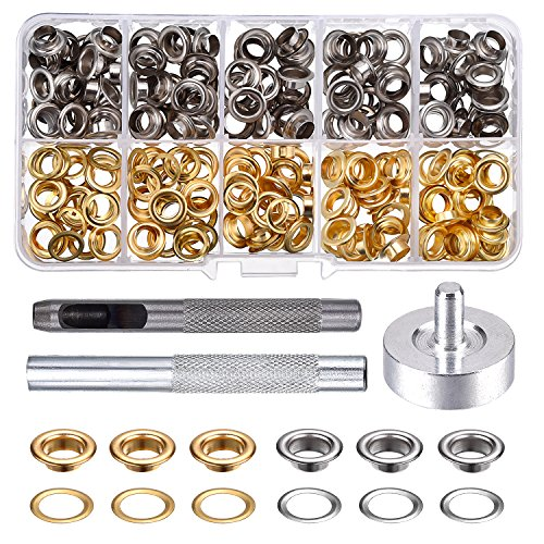 Price comparison product image Pangda Grommet Kit with 100 Set Grommets (1/ 4 Inch)
