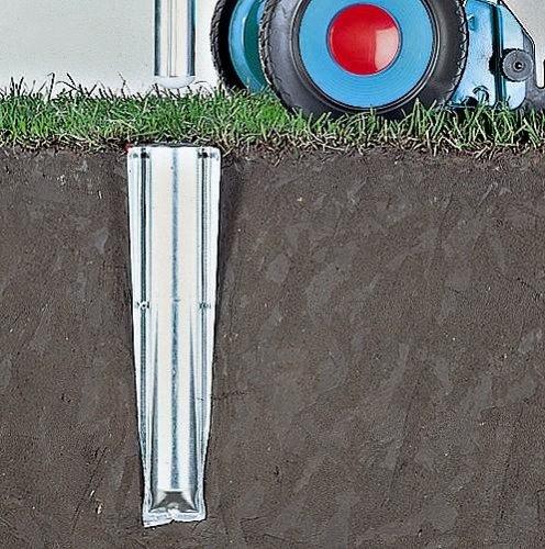 Brabantia Soil Spear - metal - Metal grey - 50 mm fro Rotary