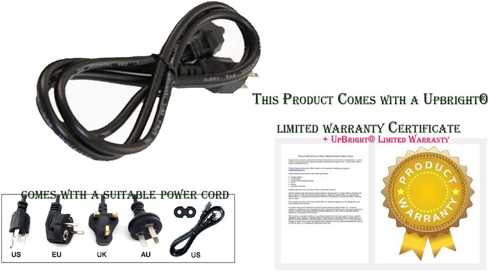 UpBright New AC Power Cord Cable for Denon AVR-5803 AVR-4800 AVR-2807 AVR-3805 AVR-4806 AVR-890 AVR-891 AVR-990 DRA-697CI AVR-2310CI AVR-2312 AVR-2312CI AVR-5800 AVR-2311 AVR 2311CI AVR-2307CI 2MA1