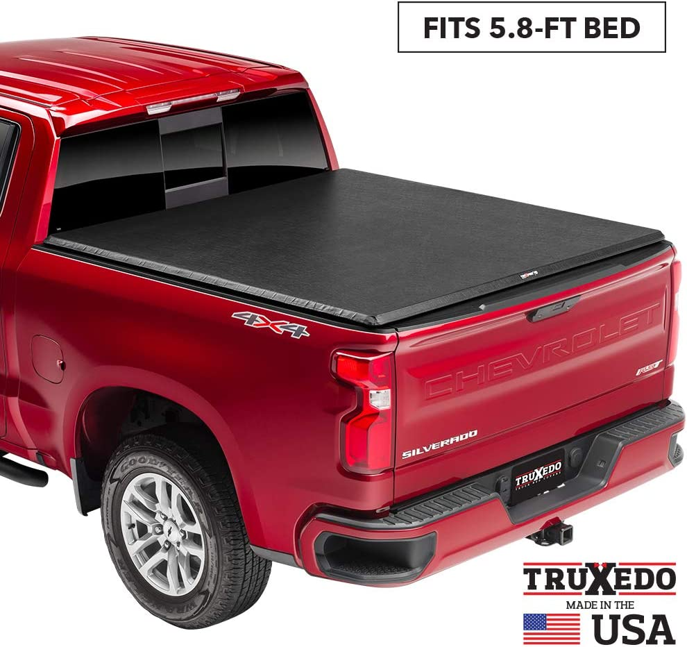 "TruXedo TruXport Soft Roll Up Truck Bed Tonneau Cover | 272401 | fits 2019 - 2020 New Body Style GMC Sierra & Chevrolet Silverado 1500 (Will not fit Carbon Pro Bed) 5'8"" bed"