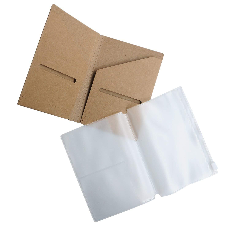 Notizbuch-Nachfü llungen - Blankopapier - Set von 3   Journaleinsä tze fü r Leder Reisetagebü cher, Tagebuch und Planer   21 cm x 11 cm Wanderings