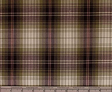 Stretch Suiting Fabric Suiting Fabric-RED//BLACK Clark Poly Rayon Plaid Stretch Suiting Fabric