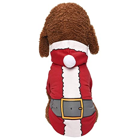 Zolimx, Nuevo Disfraz de Perro de Santa Ropa para Mascotas ...
