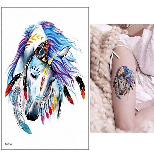 adgkitb 3 Piezas Impermeable Tatuaje Temporal Pegatina Lobo Tigre ...