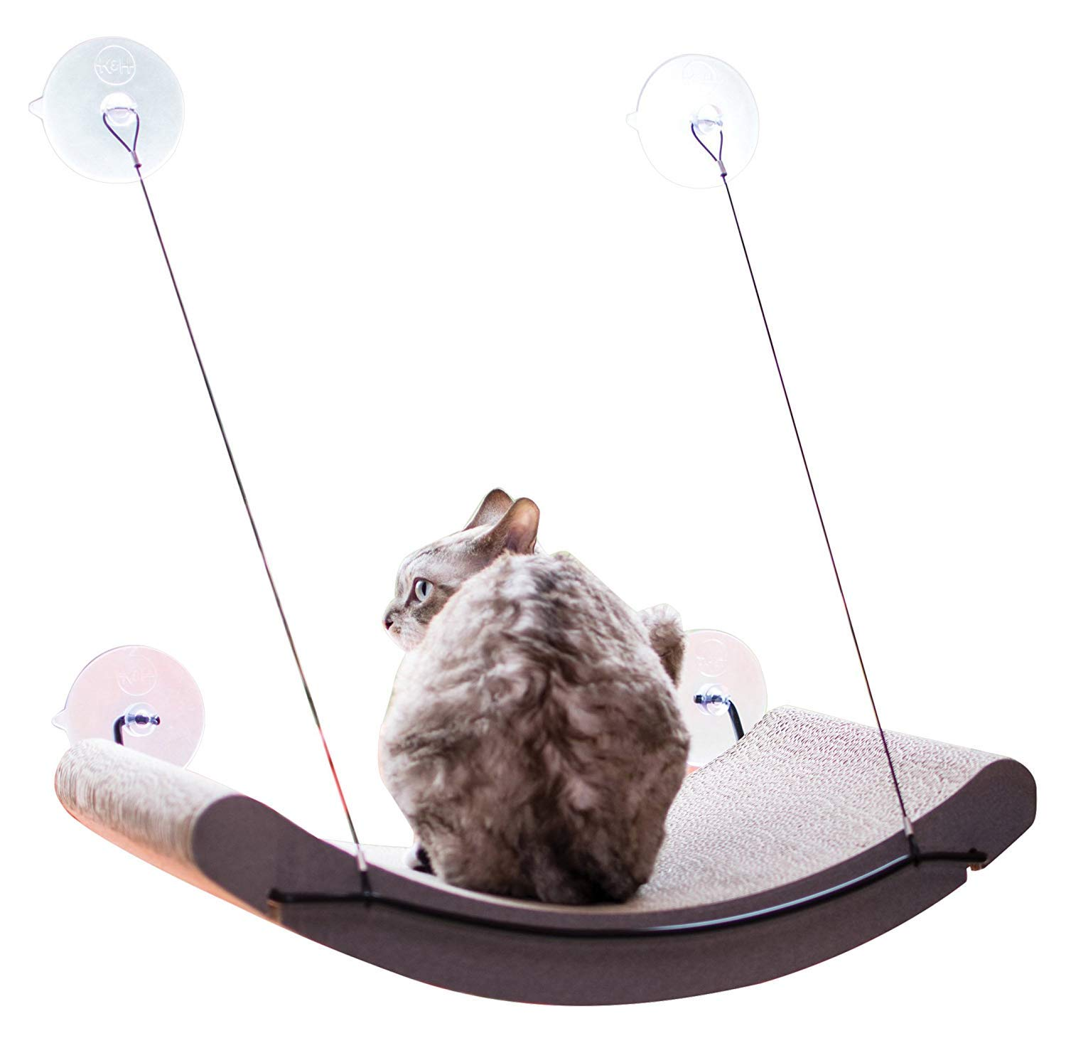 K&H Pet Products EZ Mount Scratcher Kitty Sill Cradle, Tan product image