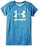 Under Armour Girls' Novelty Big Logo Short Sleeve T-Shirt,Carolina Blue/Pale Moonlight, Youth X-Large