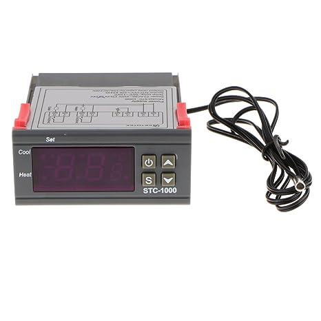 SunniMix 12 / 24V STC-1000 Termostato Controlador De Temperatura Frío Digital + Sensor -